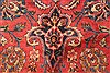Kashan Red Hand Knotted 99 X 125  Area Rug 100-28129 Thumb 12