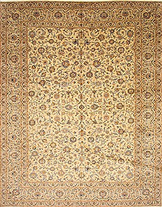 "Kashan Blue Hand Knotted 10'3"" X 13'1""  Area Rug 100-28133"