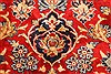 Isfahan Red Hand Knotted 98 X 131  Area Rug 100-28137 Thumb 13