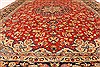 Isfahan Red Hand Knotted 98 X 131  Area Rug 100-28137 Thumb 7