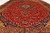 Kashan Red Hand Knotted 99 X 134  Area Rug 100-28138 Thumb 7