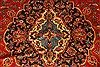 Kashan Red Hand Knotted 99 X 134  Area Rug 100-28138 Thumb 9