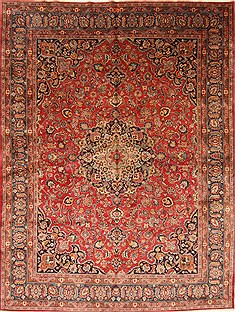 "Kashan Red Hand Knotted 9'7"" X 12'10""  Area Rug 100-28139"