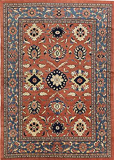 "Mahal Orange Hand Knotted 8'7"" X 11'0""  Area Rug 500-28147"