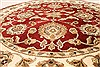 Jaipur Red Round Hand Knotted 59 X 59  Area Rug 250-28307 Thumb 1