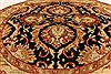 Jaipur Black Round Hand Knotted 39 X 39  Area Rug 250-28321 Thumb 2