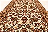 Isfahan Beige Hand Knotted 30 X 50  Area Rug 250-28351 Thumb 3