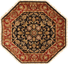 "Jaipur Black Octagon Hand Knotted 4'0"" X 4'0""  Area Rug 250-28357"