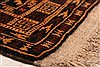 Baluch Orange Hand Knotted 211 X 47  Area Rug 253-28387 Thumb 5