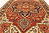 Serapi Orange Hand Knotted 40 X 61  Area Rug 250-28389 Thumb 4