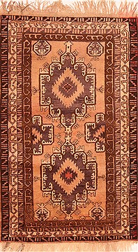 Afghan Baluch Beige Rectangle 3x5 ft Wool Carpet 28409