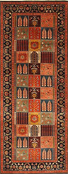 Indian Bidjar Multicolor Runner 10 to 12 ft Wool Carpet 28411