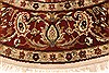 Jaipur White Round Hand Knotted 80 X 80  Area Rug 250-28431 Thumb 2