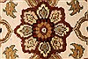 Jaipur White Round Hand Knotted 80 X 80  Area Rug 250-28431 Thumb 8