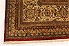 Tabriz Beige Hand Knotted 1111 X 1411  Area Rug 250-28436 Thumb 1