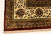 Kashan Beige Hand Knotted 1110 X 1411  Area Rug 250-28440 Thumb 1
