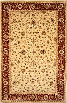 Indian Pishavar Beige Rectangle 12x18 ft Wool Carpet 28469