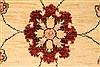 Pishavar Beige Square Hand Knotted 67 X 80  Area Rug 250-28485 Thumb 2