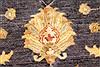Pishavar Beige Hand Knotted 123 X 147  Area Rug 250-28527 Thumb 12