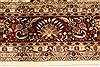 Tabriz Beige Hand Knotted 119 X 150  Area Rug 250-28566 Thumb 2