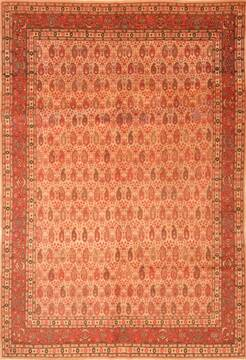 "Hereke Brown Hand Knotted 6'4"" X 8'10""  Area Rug 100-28581"