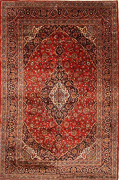 Persian Najaf-abad Red Rectangle 11x16 ft Wool Carpet 28583