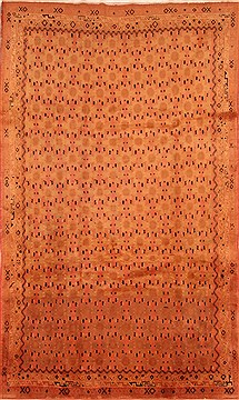 Persian Sirjan Brown Rectangle 7x10 ft Wool Carpet 28617