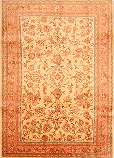 "Sarouk Red Hand Knotted 6'9"" X 9'7""  Area Rug 100-28621"