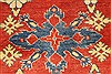 Kazak Orange Hand Knotted 39 X 59  Area Rug 250-28624 Thumb 2