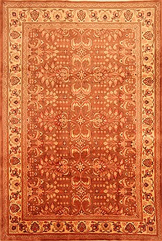 "Sarouk Brown Hand Knotted 7'1"" X 10'6""  Area Rug 100-28670"