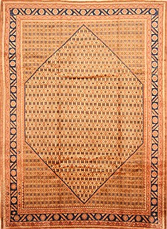"Koliai Yellow Hand Knotted 7'0"" X 9'7""  Area Rug 100-28686"