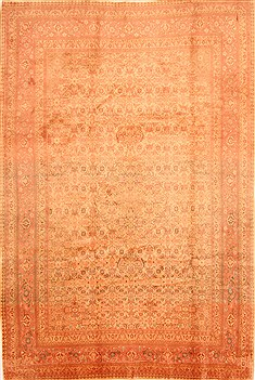 "Sarouk Yellow Hand Knotted 7'0"" X 10'5""  Area Rug 100-28689"