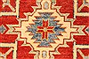 Kazak Red Runner Hand Knotted 211 X 195  Area Rug 250-28708 Thumb 3