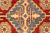 Kazak Red Runner Hand Knotted 211 X 193  Area Rug 250-28714 Thumb 2
