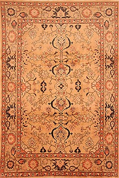 "Mahal Beige Hand Knotted 8'0"" X 11'10""  Area Rug 100-28718"