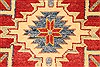 Kazak Red Runner Hand Knotted 211 X 189  Area Rug 250-28721 Thumb 3