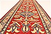 Kazak Red Runner Hand Knotted 211 X 189  Area Rug 250-28721 Thumb 5