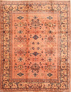 "Kerman Red Hand Knotted 7'10"" X 9'10""  Area Rug 100-28726"