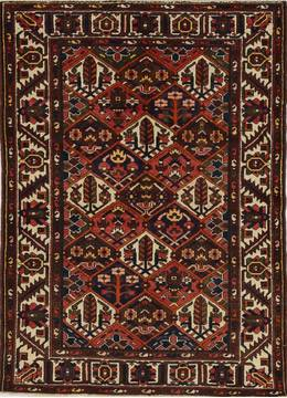 "Bakhtiar Red Hand Knotted 5'0"" X 6'6""  Area Rug 500-28754"