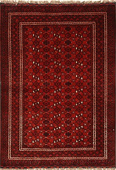 Indian Turkman Blue Rectangle 3x5 ft Wool Carpet 28771