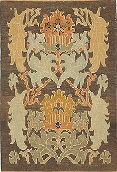 "Oushak Brown Hand Knotted 5'0"" X 7'2""  Area Rug 500-28790"