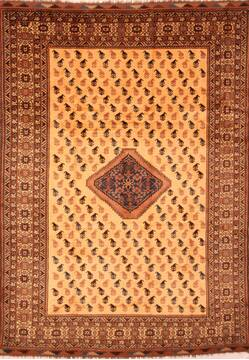 "Baluch Yellow Hand Knotted 8'3"" X 11'1""  Area Rug 100-28805"