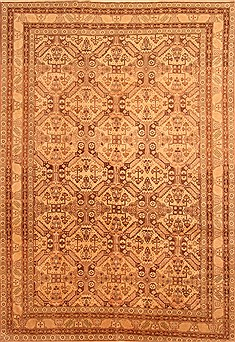 "Kayseri Brown Hand Knotted 7'9"" X 11'1""  Area Rug 100-28820"