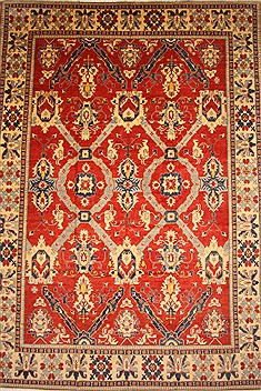 "Kazak Red Hand Knotted 14'7"" X 21'2""  Area Rug 250-28825"