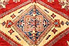 Kazak Red Hand Knotted 117 X 148  Area Rug 250-28827 Thumb 1