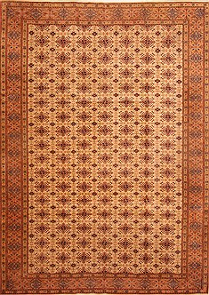 "Kayseri Orange Hand Knotted 8'0"" X 11'4""  Area Rug 100-28840"