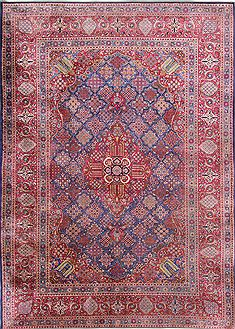 Persian Kashan Red Rectangle 7x10 ft silk Carpet 29134