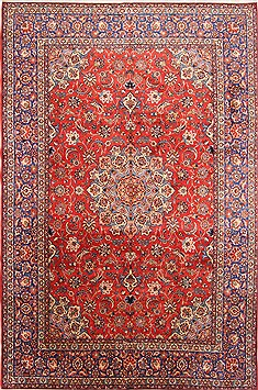 "Isfahan Red Hand Knotted 10'7"" X 16'0""  Area Rug 254-29139"