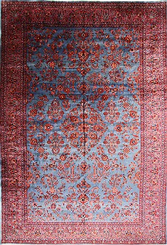 "Mahal Blue Hand Knotted 10'3"" X 14'9""  Area Rug 254-29142"