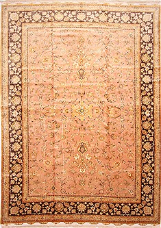 "Tabriz Beige Hand Knotted 11'2"" X 15'9""  Area Rug 254-29170"